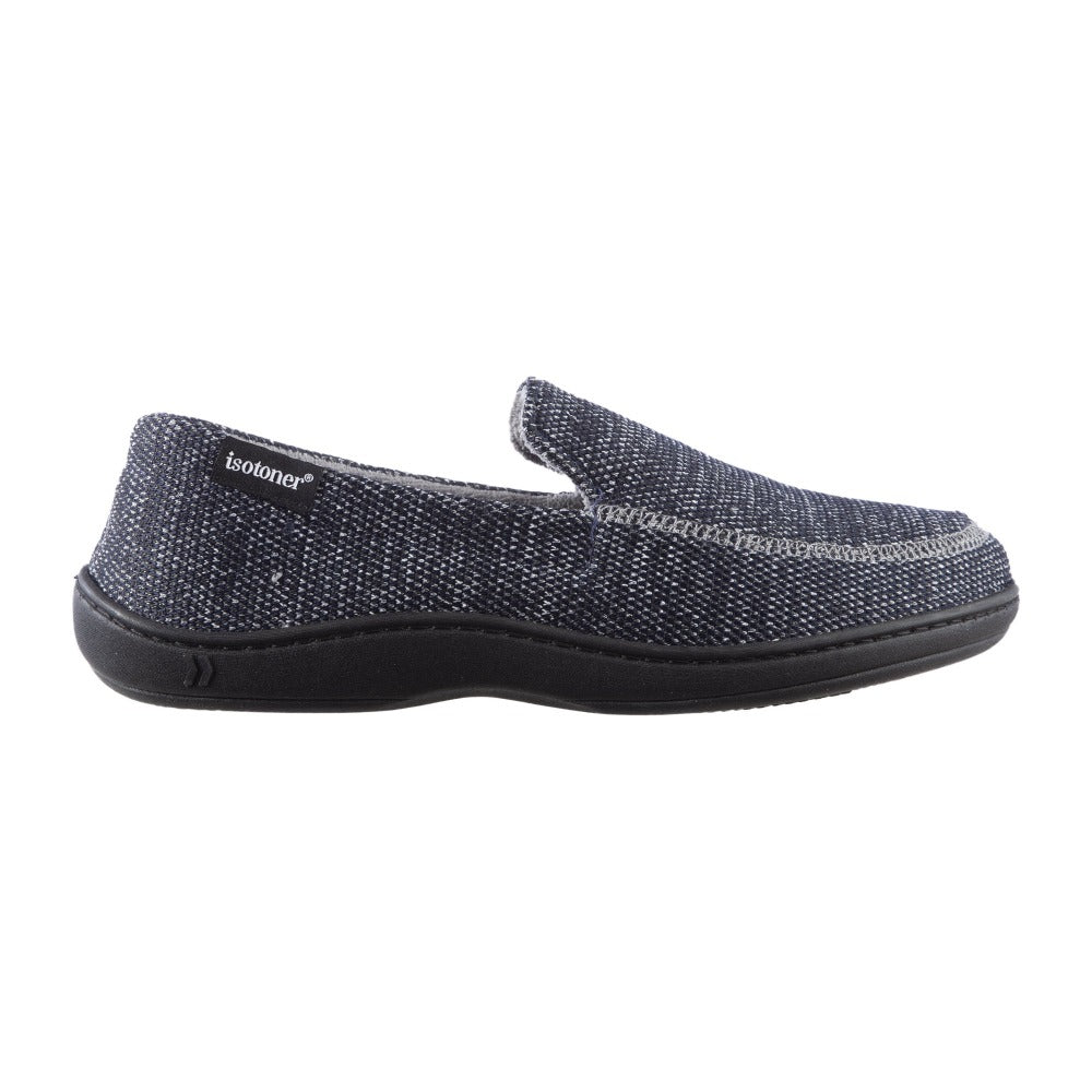 Men's Javier Mesh Closed Back Slippers in Navy Blue