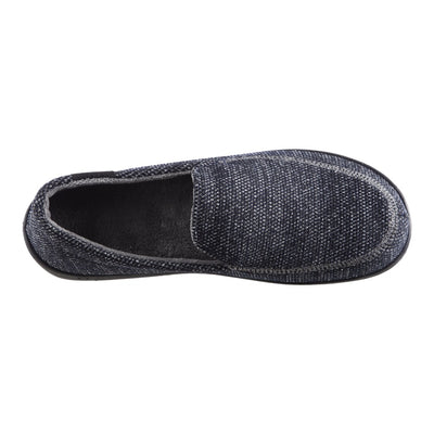 Men's Javier Mesh Closed Back Slippers in Navy Blue Inside Top View