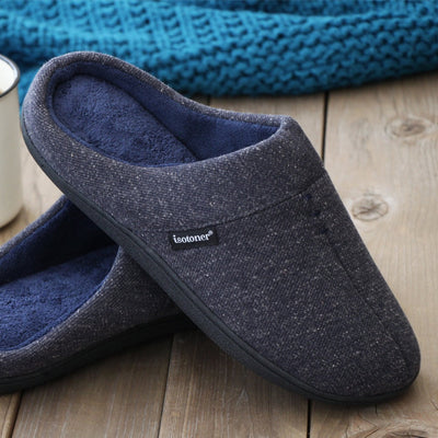Men's Preston Heather Knit Hoodback Slippers