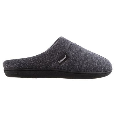 Men's Preston Heather Knit Hoodback Slippers in Navy Blue