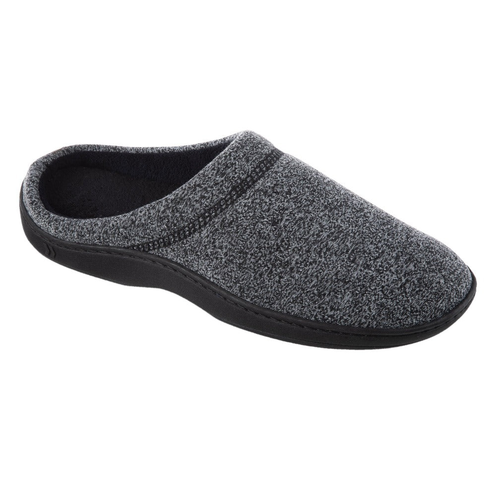 Men's Knit Ethan Hoodback Slippers in Black Right Angled View