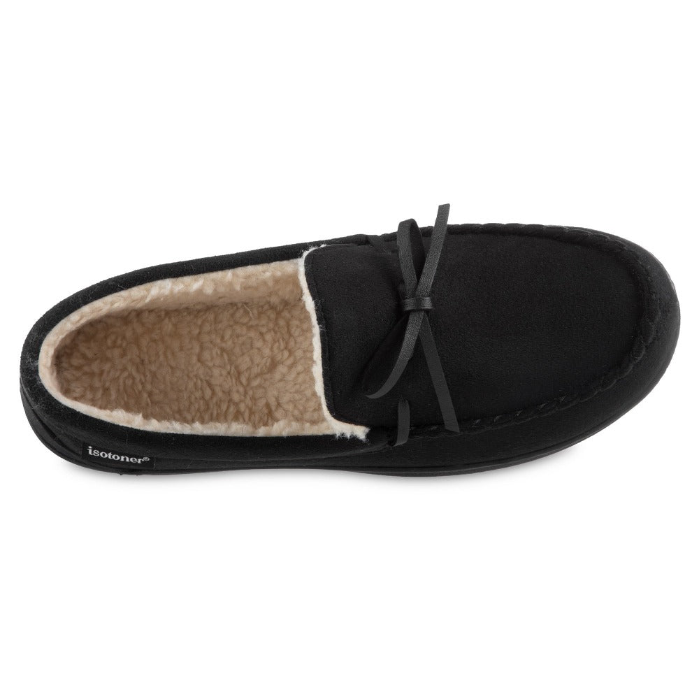 Men's Recycled Nigel Moccasin with Canvas Heel in Black inside top view