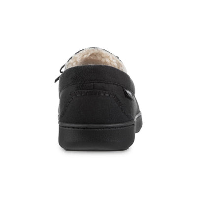 Men's Recycled Nigel Moccasin with Canvas Heel in Black Back Heel