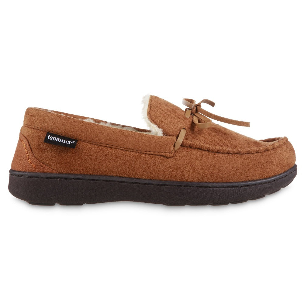 Men's Recycled Nigel Moccasin with Canvas Heel in Cognac brown Profile