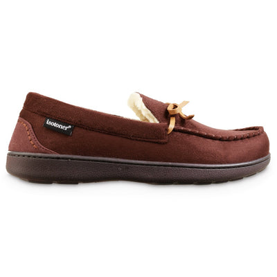 Men's Recycled Nigel Moccasin with Canvas Heel in Dark Chocolate Profile