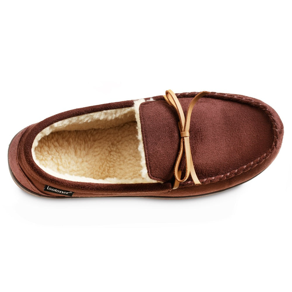 Men's Recycled Nigel Moccasin with Canvas Heel in Dark Chocolate Inside Top VIew