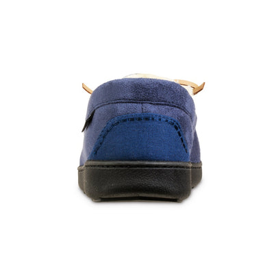 Men's Recycled Nigel Moccasin with Canvas Heel in Navy Blue Back Heel