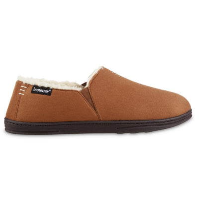 Men's Recycled Microsuede Nigel Closed Back Slipper in Cognac Profile