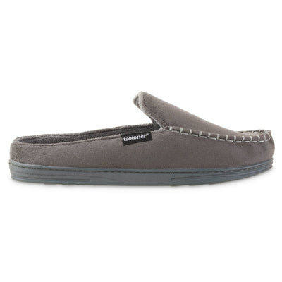 Men's Microsuede Titus Hoodback Slippers in Ash Grey Profile