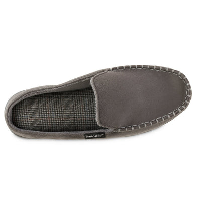 Men's Microsuede Titus Hoodback Slippers in Ash Grey Inside Top View