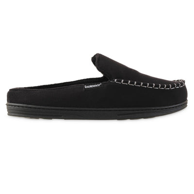 Men's Microsuede Titus Hoodback Slippers in Black Profile