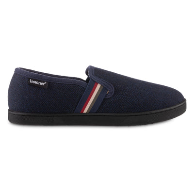 Men's Herringbone Maverick Closed Back Slippers in Navy Blue Profile