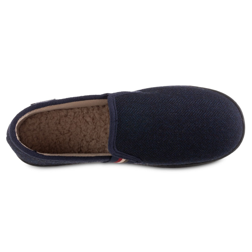 Men's Herringbone Maverick Closed Back Slippers in Navy Blue Inside Top View