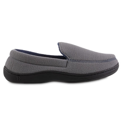 Men's Recycled Fleece Roman Moccasin Slippers in Ash Profile