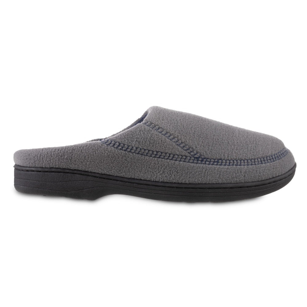 Men's Recycled Fleece Roman Hoodback Slippers in Ash Profile