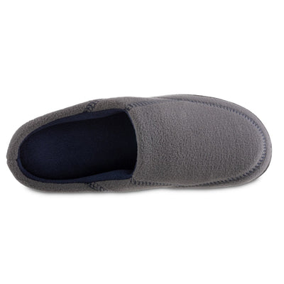 Men's Recycled Fleece Roman Hoodback Slippers in Ash Inside Top View