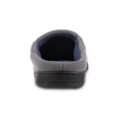 Men's Recycled Fleece Roman Hoodback Slippers in Ash Back Heel