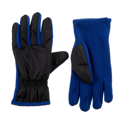 Kid's Nylon Gloves Lightning Blue Front and Back View
