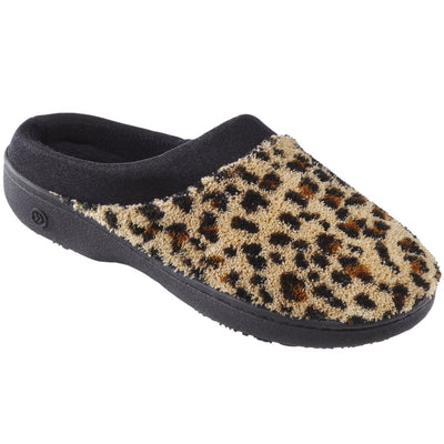 Signature Women's Matte Satin Hoodback Slippers in Cheetah Right Side View