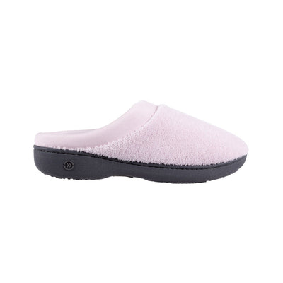 Signature Women's Matte Satin Hoodback Slippers in Petal Pink Profile