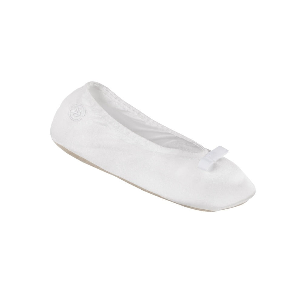 Women's Signature Satin Ballerina Slippers with Suede Sole