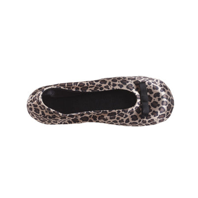 Signature Satin Ballerina Slippers with Suede Sole Cheetah 11