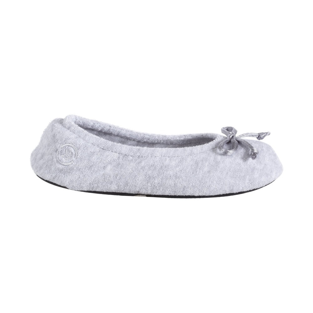 Signature Women's Terry Ballerina Slippers in Heather Profile