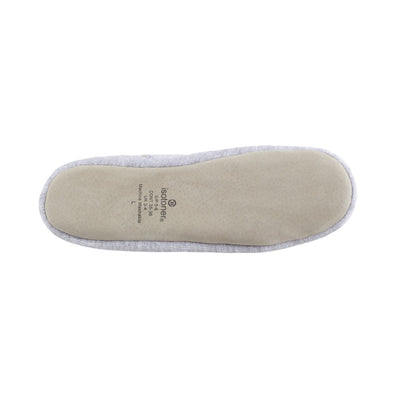 Women's Signature Embroidered Floral Terry Ballerina Slippers in Heather Bottom Sole