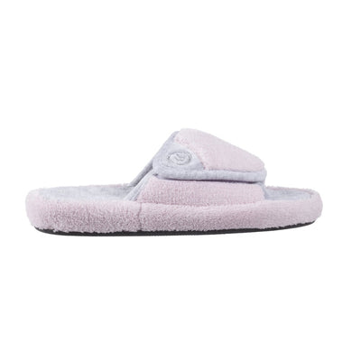 Signature Women's Microterry Spa Slide Slippers Petal Pink Profile View