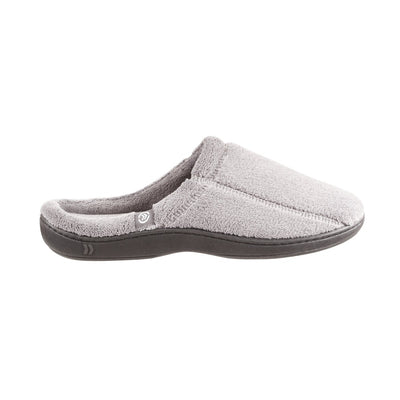 Signature Men's Microterry Hoodback Slippers in Charcoal