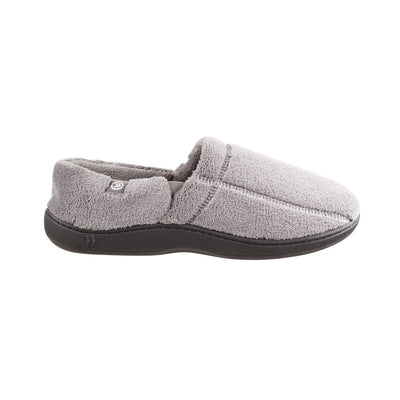 Signature Men's Microterry Slip On Slippers in Charcoal Profile