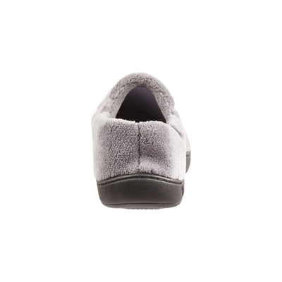 Signature Men's Microterry Slip On Slippers Charcoal Back Heel