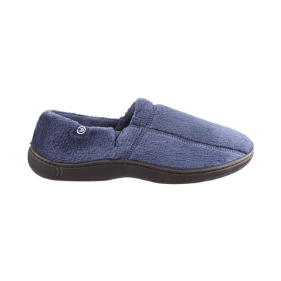 Signature Men's Microterry Slip On Slippers Navy Profile