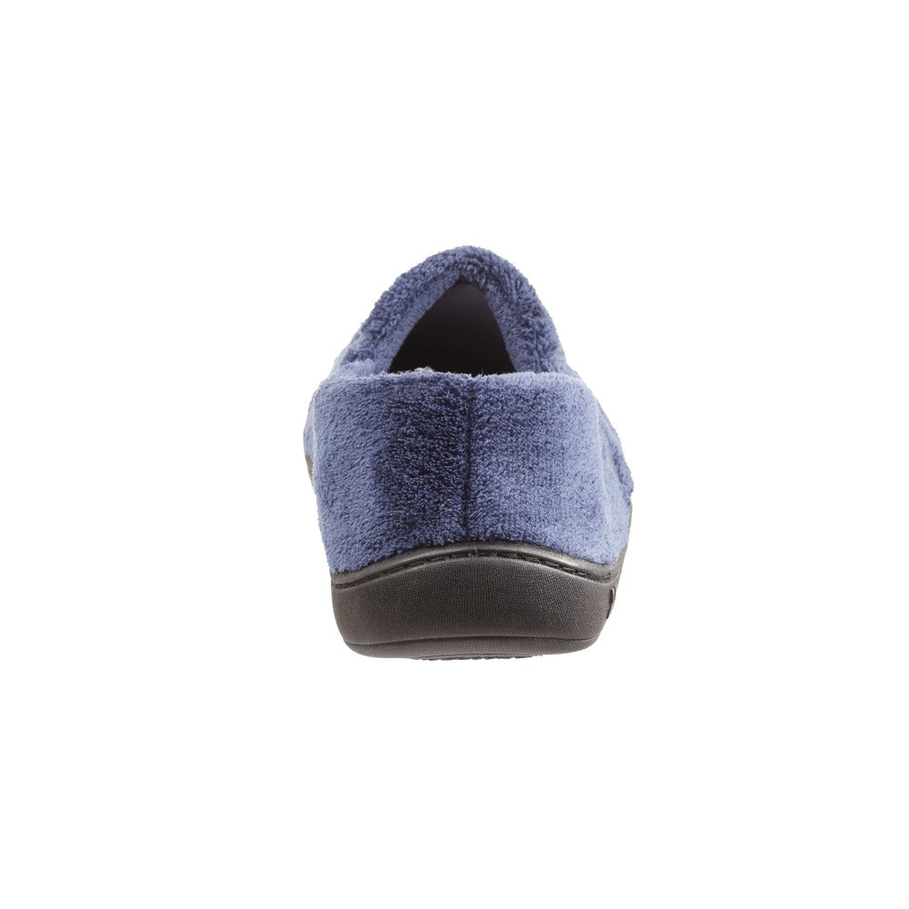 Signature Men's Microterry Slip On Slippers Navy Back Heel