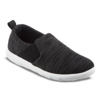Zenz Women's Balance Slip-On in Black Marbled Right Angled View