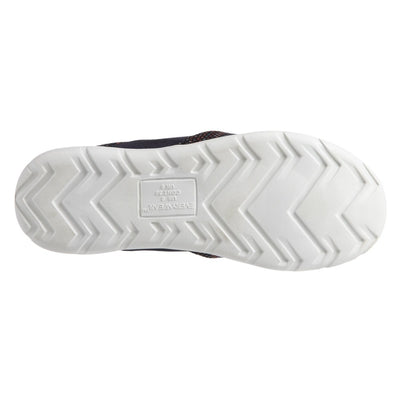 Zenz Women's Balance Slip-On in Navy Blue Bottom Sole Tread