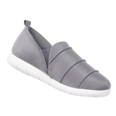 Zenz Women's Serenity Slip-On in Ash Right Angled View