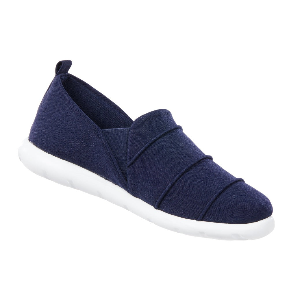 Zenz Women's Serenity Slip-On in Navy Blue Right Angled View