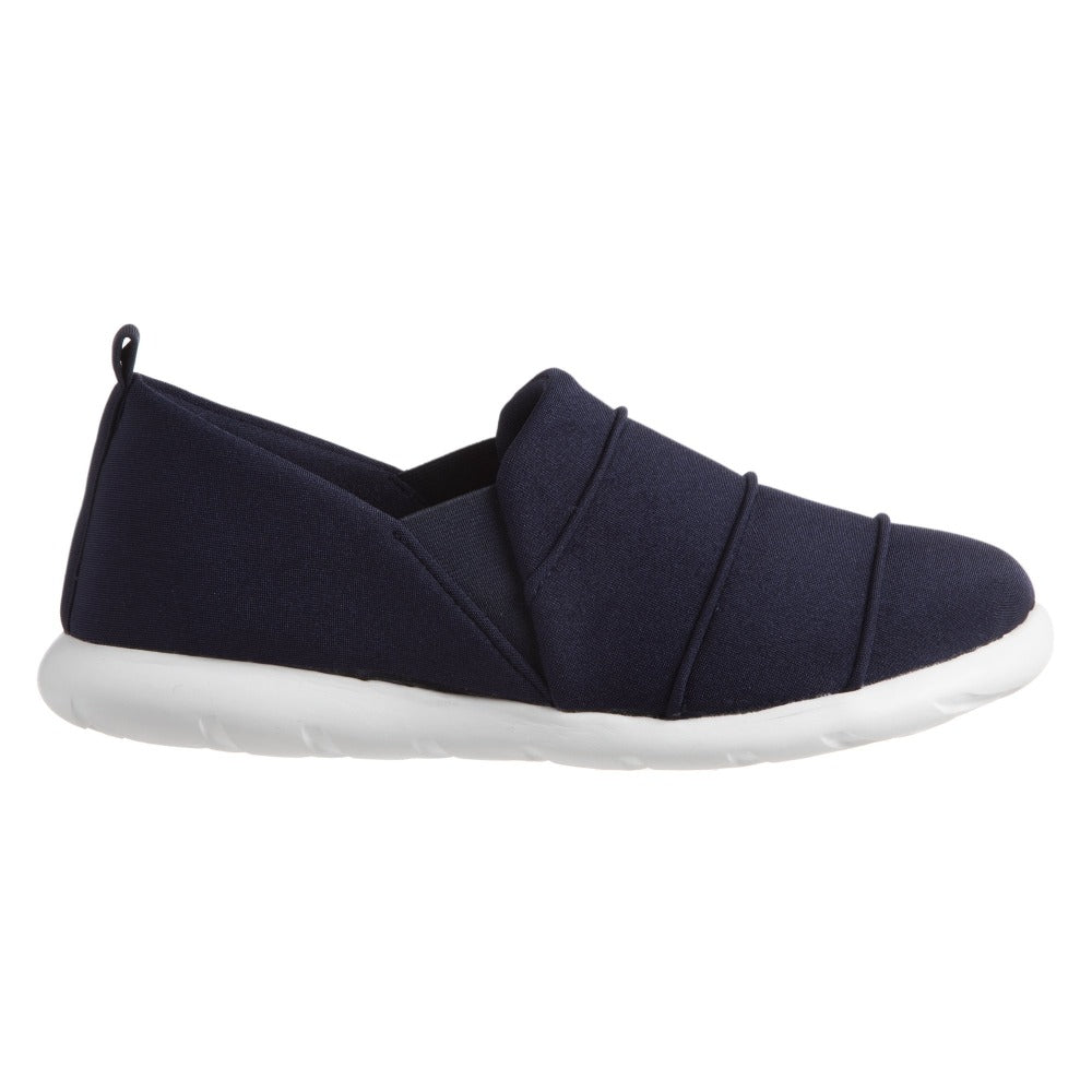 Zenz Women's Serenity Slip-On in Navy Blue Profile