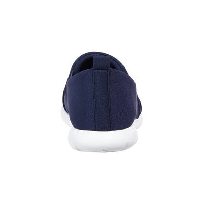 Zenz Women's Serenity Slip-On in Navy Blue Heel View