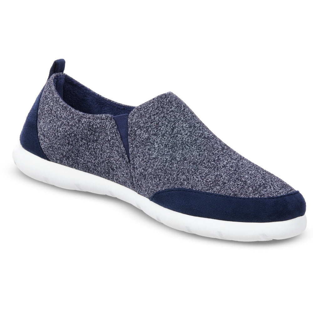 Zenz Men's Activate Slip-On in Navy Blue Right Angled View