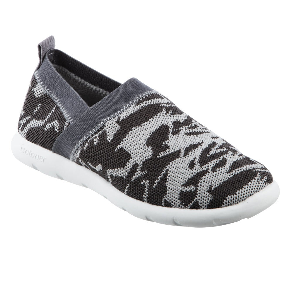 Zenz Women's Harmony Slip-On in Ash Geo Print Right Angled View