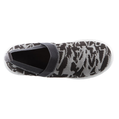 Zenz Women's Harmony Slip-On in Ash Geo Print Inside Top View