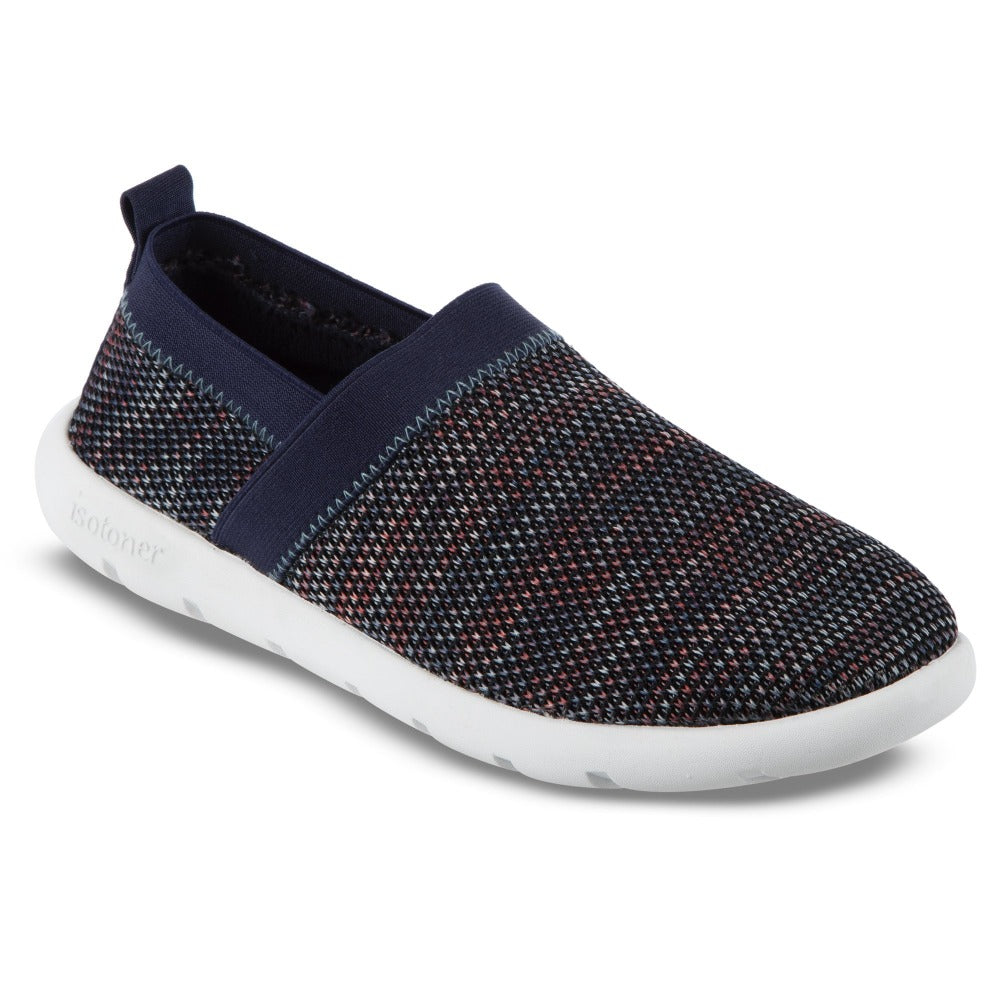 Zenz Women's Harmony Slip-On in Black Multi  Right Angled View