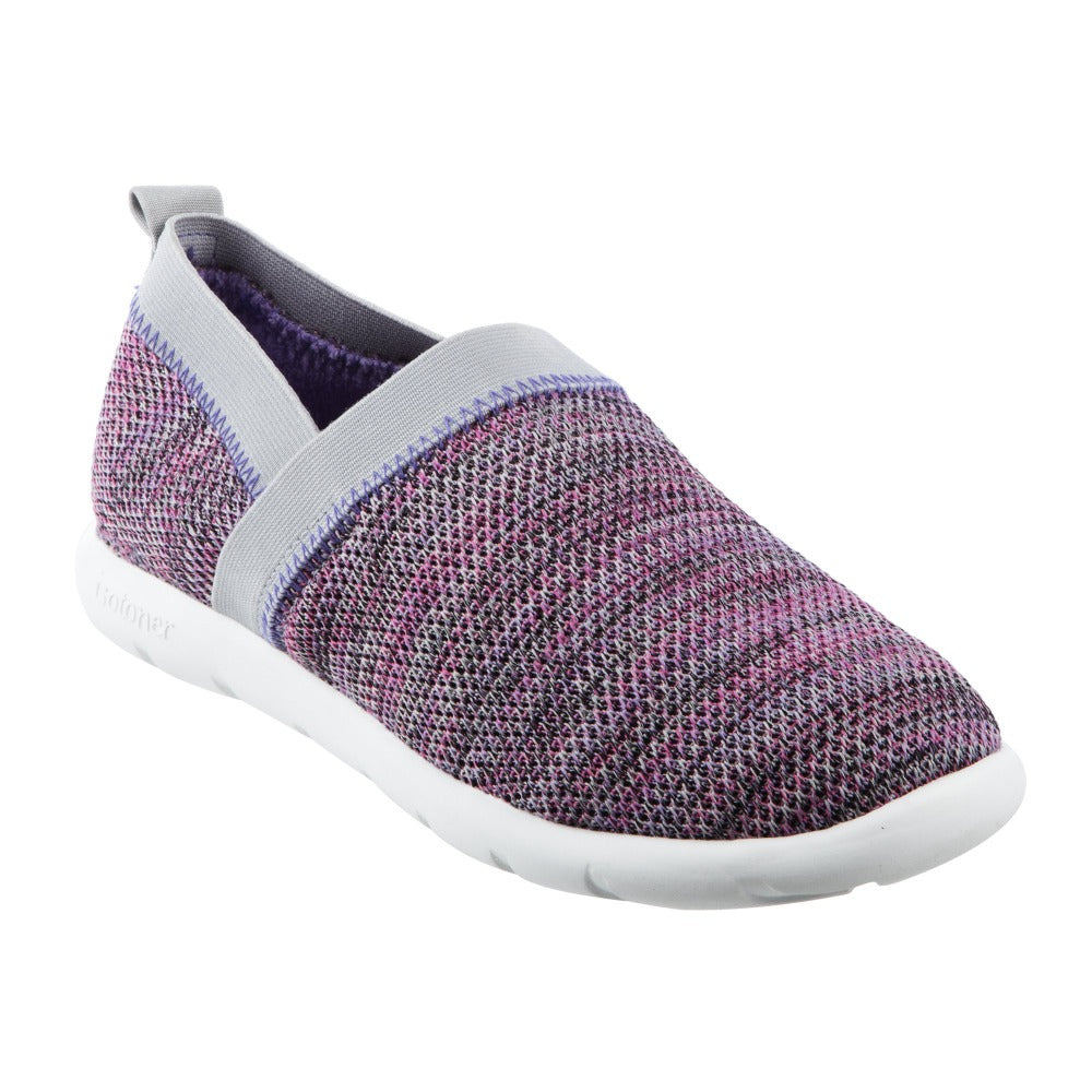 Zenz Women's Harmony Slip-On in Paisley Purple Right Angled View