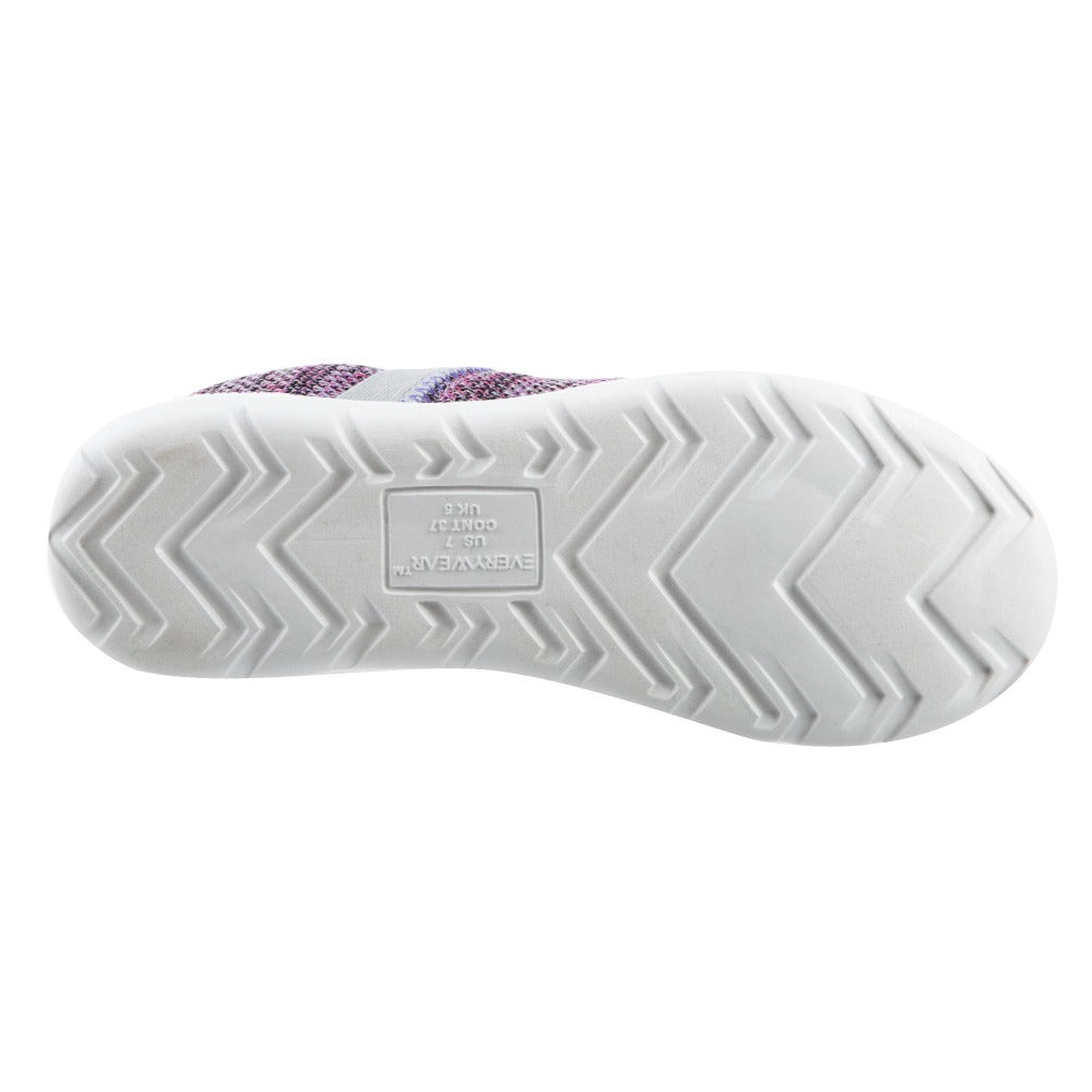 Zenz Women's Harmony Slip-On in Paisley Purple Bottom Sole Tread