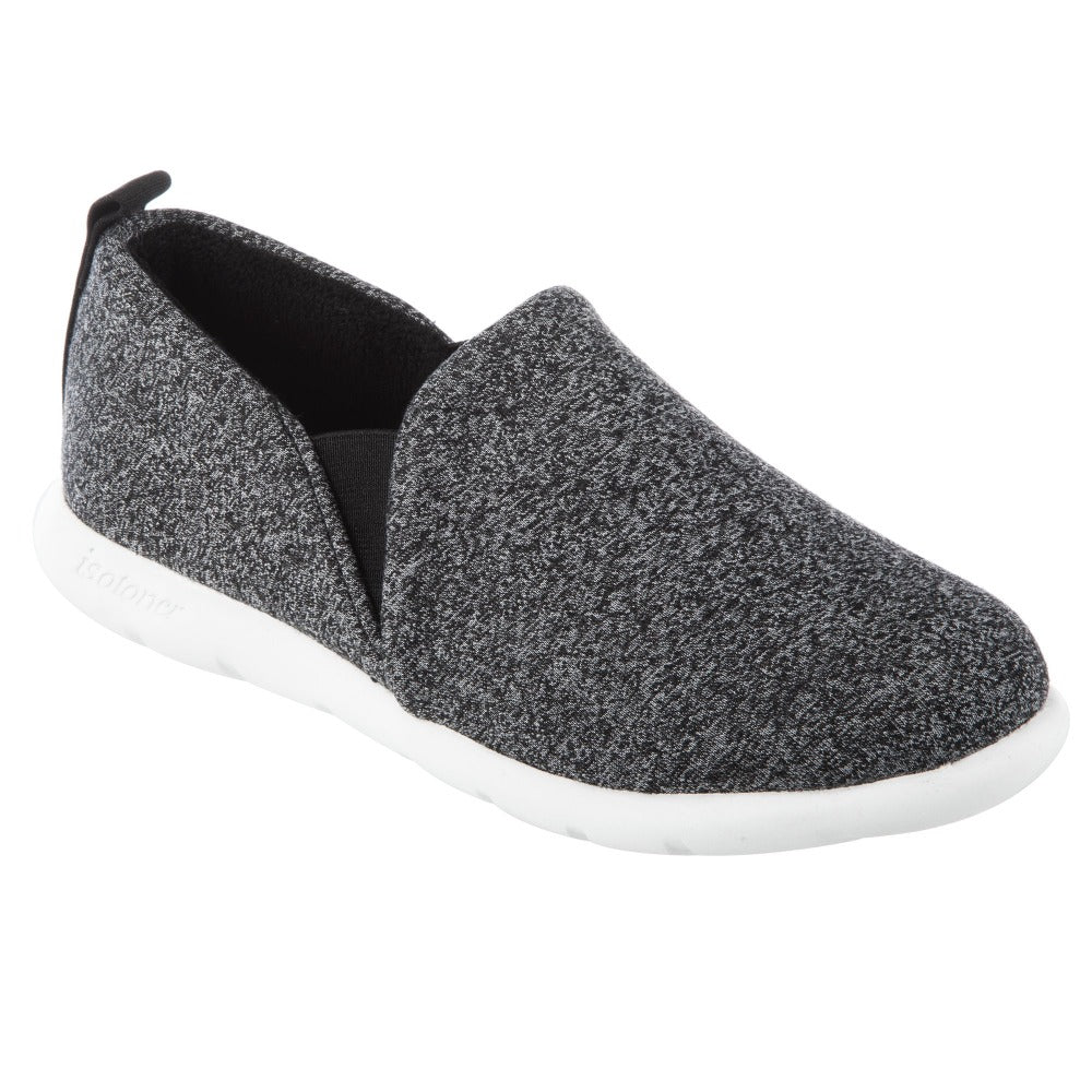 Zenz Women's Tranquility Slip-On in Black Heather Right Angled View