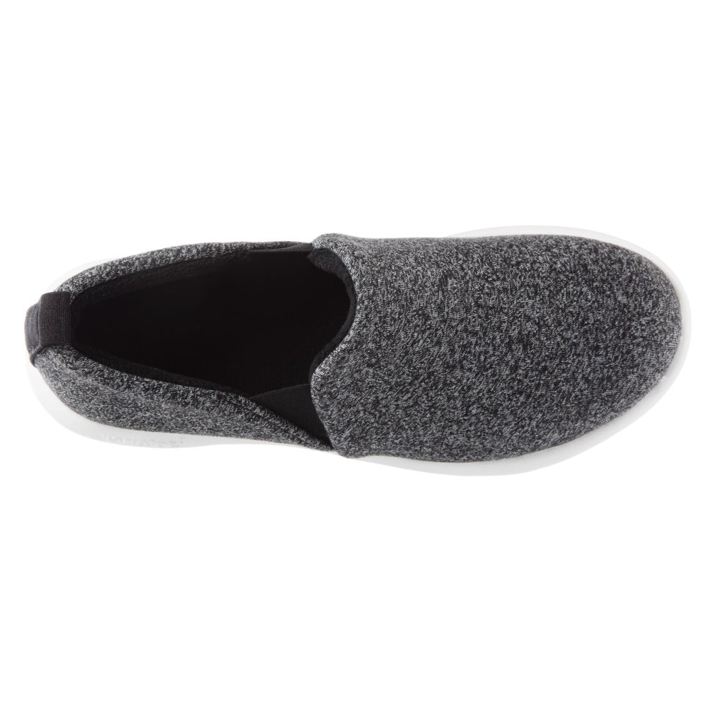 Zenz Women's Tranquility Slip-On in Black Heather Inside Top View