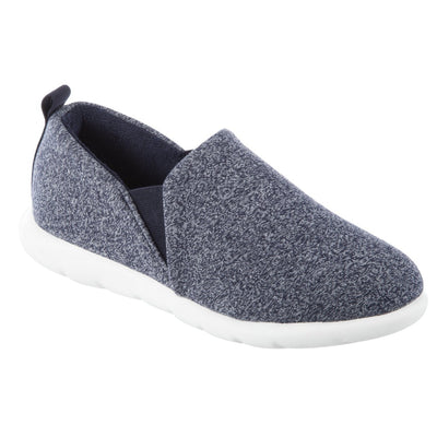 Zenz Women's Tranquility Slip-On in Navy Heather Right Angled View