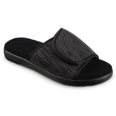 Women's Zenz Sport Knit Adjustable Slide in Black Marbled Right Angled View